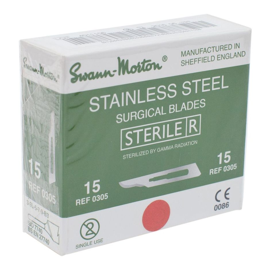 Swann Morton Surgical Stainless Steel Scalpel Blade